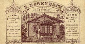 Stowarzyszenie Historyków Fotografii - Rewers teksturki firmowej zakładu S. Rosenbacha we Lwowie, ok. 1880 r